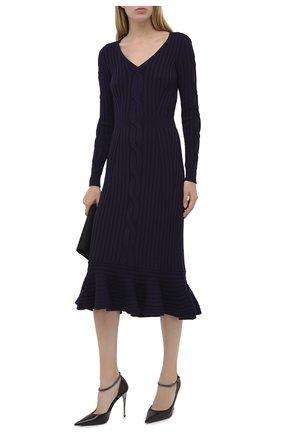 Женская кожаные туфли TOM FORD черного цвета, арт. W2613R-LKD002 | Фото 2