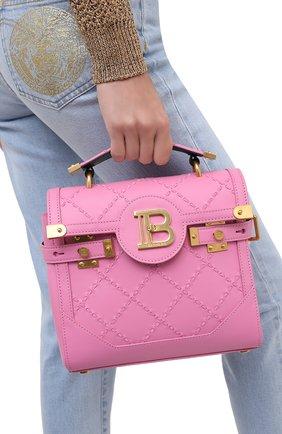 Женская сумка BALMAIN розового цвета, арт. UN1S501/LMCR | Фото 2