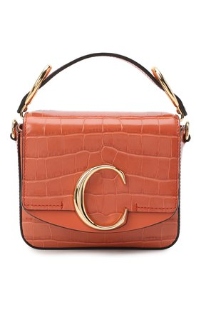 Женская сумка chloé c mini CHLOÉ светло-коричневого цвета, арт. CHC19US193A87 | Фото 1