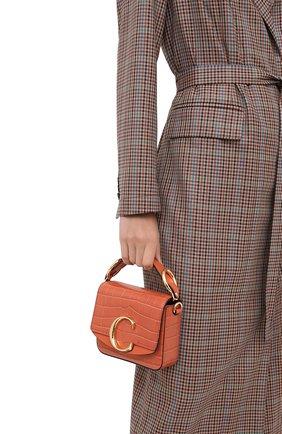 Женская сумка chloé c mini CHLOÉ светло-коричневого цвета, арт. CHC19US193A87 | Фото 2