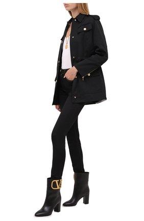 Женские кожаные ботильоны valentino garavani supervee VALENTINO черного цвета, арт. UW2S0AA6/AXA | Фото 2