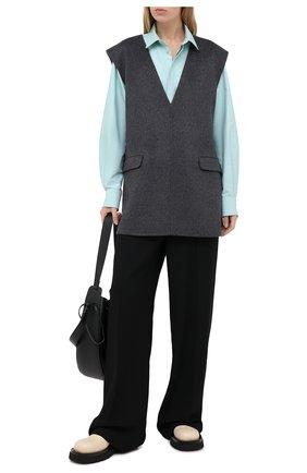 Женский жилет из шерсти и кашемира TOTÊME темно-серого цвета, арт. ALC0BA 201-101-722 | Фото 2