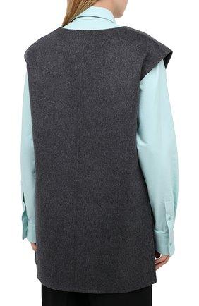 Женский жилет из шерсти и кашемира TOTÊME темно-серого цвета, арт. ALC0BA 201-101-722 | Фото 4