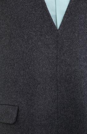 Женский жилет из шерсти и кашемира TOTÊME темно-серого цвета, арт. ALC0BA 201-101-722 | Фото 5