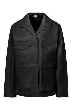 Женская кожаная куртка TOTÊME черного цвета, арт. AVIGN0N LEATHER JACKET 203-104-702 | Фото 1