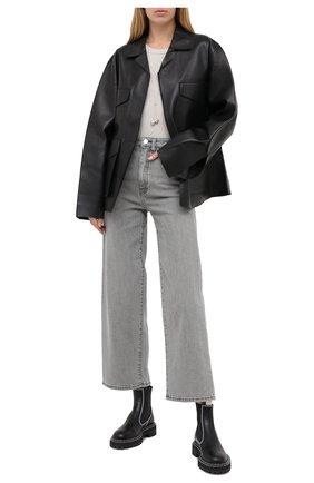 Женская кожаная куртка TOTÊME черного цвета, арт. AVIGN0N LEATHER JACKET 203-104-702 | Фото 2