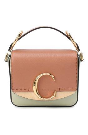 Женская сумка chloé c mini CHLOÉ светло-зеленого цвета, арт. CHC20AS193D04 | Фото 1