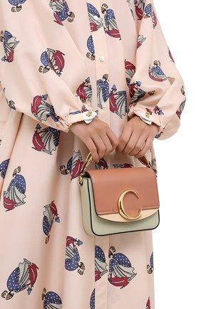 Женская сумка chloé c mini CHLOÉ светло-зеленого цвета, арт. CHC20AS193D04 | Фото 2
