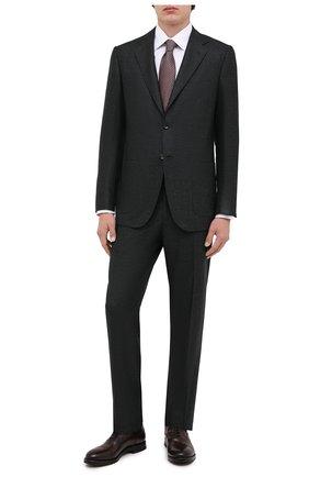 Мужской шерстяной костюм KITON темно-зеленого цвета, арт. UA81K01T52 | Фото 1