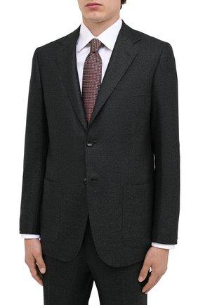Мужской шерстяной костюм KITON темно-зеленого цвета, арт. UA81K01T52 | Фото 2