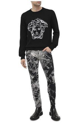 Мужские джинсы DOLCE & GABBANA черно-белого цвета, арт. GYC4LD/G8CV9 | Фото 2