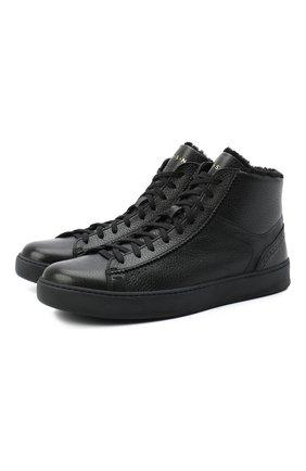 Мужские кожаные ботинки H`D`S`N BARACCO черного цвета, арт. CARTER.CMN.2* | Фото 1