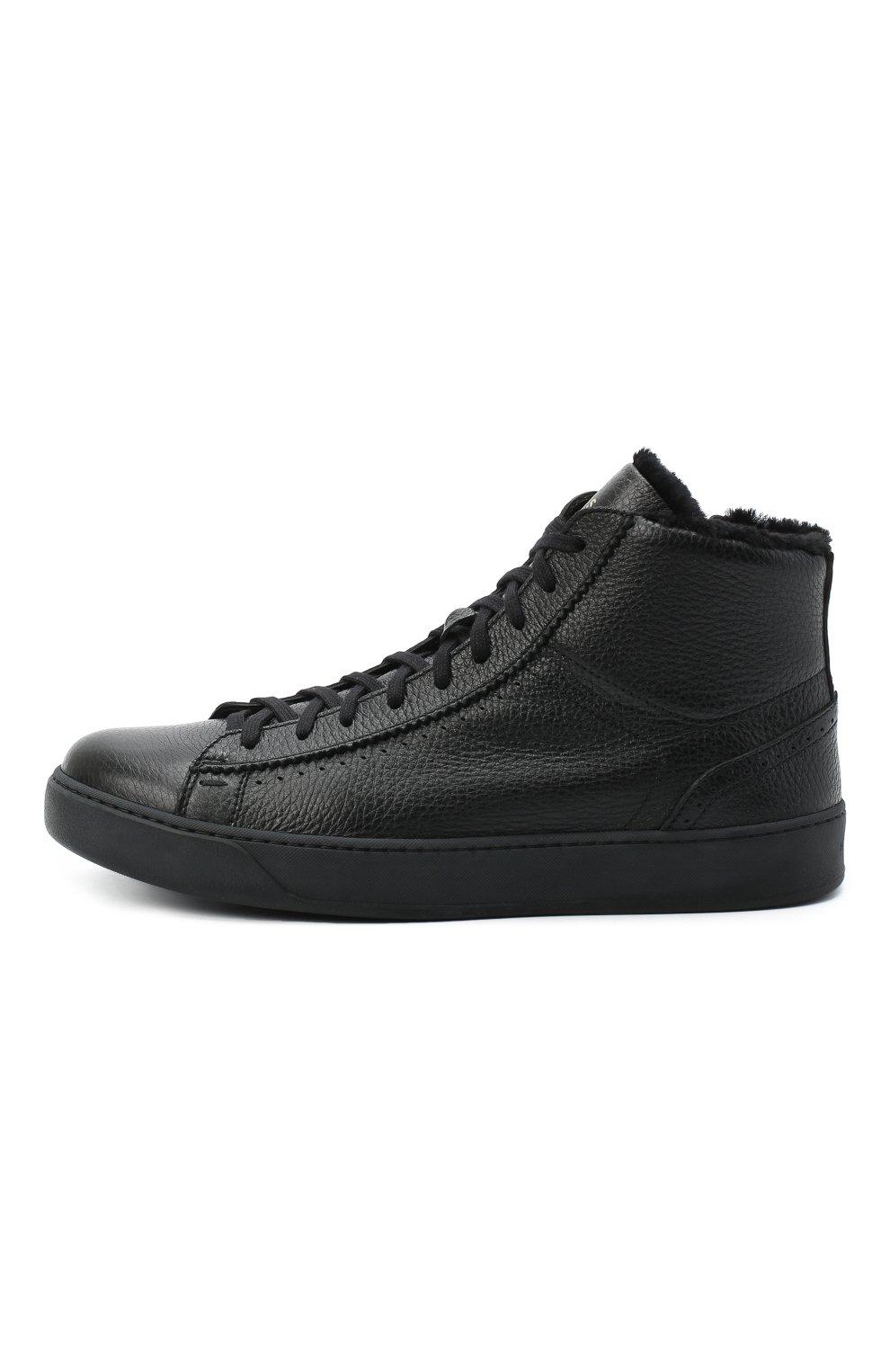 Мужские кожаные ботинки H`D`S`N BARACCO черного цвета, арт. CARTER.CMN.2* | Фото 3