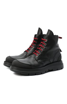 Мужские кожаные ботинки MOMA черного цвета, арт. 2BW131-CU | Фото 1