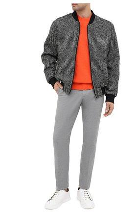 Мужские кожаные кеды FENDI белого цвета, арт. 7E1379 AC77 | Фото 2