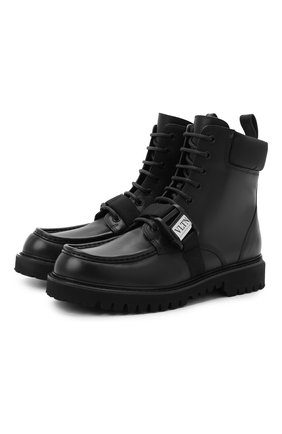Мужские кожаные ботинки valentino garavani VALENTINO черного цвета, арт. UY2S0D59/YBH | Фото 1