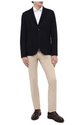 Мужской шерстяной пиджак HARRIS WHARF LONDON темно-синего цвета, арт. C7G27MYM | Фото 2