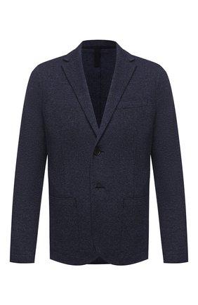 Мужской пиджак из шерсти и хлопка HARRIS WHARF LONDON темно-синего цвета, арт. C8P22MPG | Фото 1