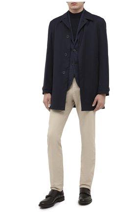 Мужской пиджак из шерсти и хлопка HARRIS WHARF LONDON темно-синего цвета, арт. C8P22MPG | Фото 2