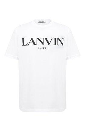 Мужская хлопковая футболка LANVIN белого цвета, арт. RM-JE0069-JR31-H20   Фото 1