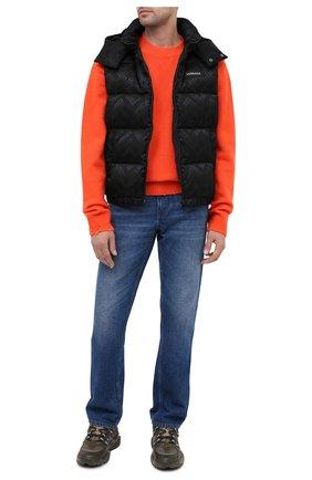 Мужской свитер из шерсти и шелка VERSACE оранжевого цвета, арт. A86530/A235909   Фото 2