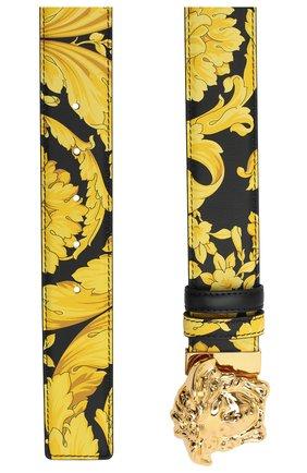 Мужской кожаный ремень VERSACE желтого цвета, арт. DCU6705/DVST4 | Фото 2