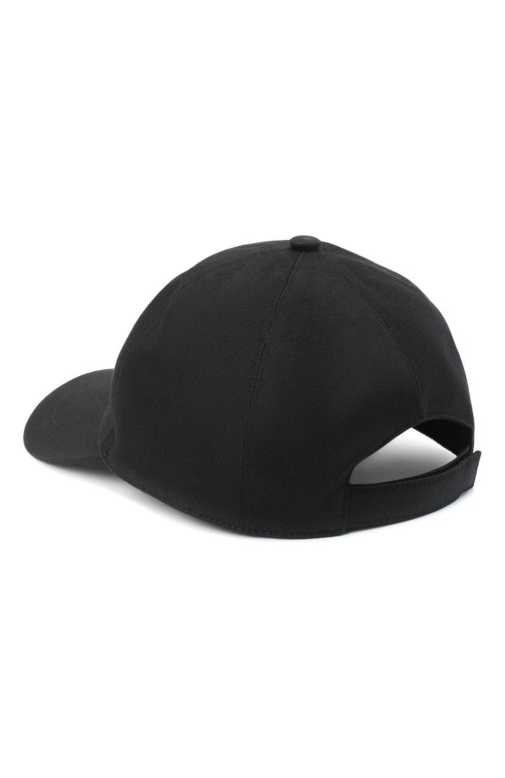 Мужской хлопковая бейсболка VERSACE черного цвета, арт. ICAP004/A236201 | Фото 2