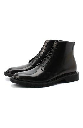 Мужские кожаные ботинки SAINT LAURENT черного цвета, арт. 632364/1Y000 | Фото 1