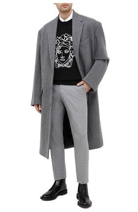 Мужские кожаные ботинки SAINT LAURENT черного цвета, арт. 632364/1Y000 | Фото 2