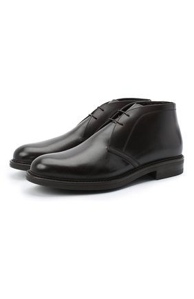 Мужские кожаные ботинки W.GIBBS темно-коричневого цвета, арт. 3169005/0215 | Фото 1
