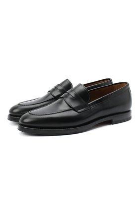 Мужские кожаные пенни-лоферы W.GIBBS черного цвета, арт. 0354003/0221 | Фото 1