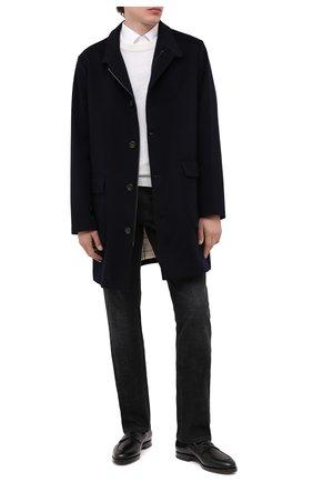 Мужские кожаные пенни-лоферы W.GIBBS черного цвета, арт. 0354003/0221 | Фото 2
