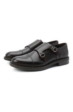 Мужские кожаные монки W.GIBBS темно-коричневого цвета, арт. 3169013/0214 | Фото 1
