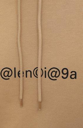Мужской хлопковое худи BALENCIAGA бежевого цвета, арт. 570811/TIV51 | Фото 5