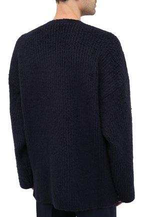 Мужской хлопковый свитер BALENCIAGA темно-синего цвета, арт. 628740/T3182 | Фото 5