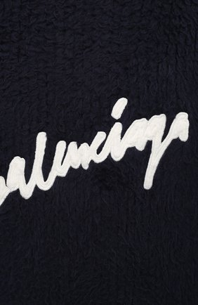 Мужской хлопковый свитер BALENCIAGA темно-синего цвета, арт. 628740/T3182 | Фото 6