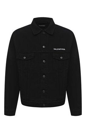 Мужская джинсовая куртка BALENCIAGA черного цвета, арт. 628701/TEW35 | Фото 1
