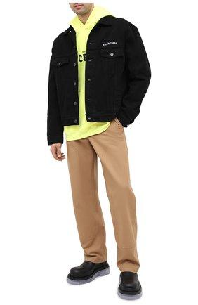 Мужская джинсовая куртка BALENCIAGA черного цвета, арт. 628701/TEW35 | Фото 2