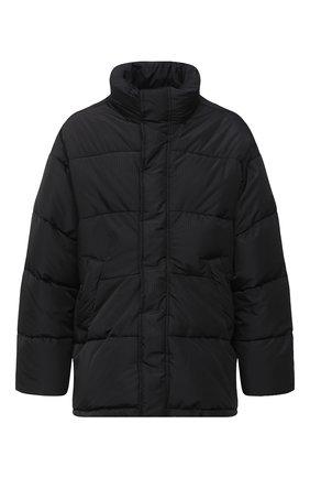 Мужская утепленная куртка BALENCIAGA черного цвета, арт. 621982/TYD33 | Фото 1