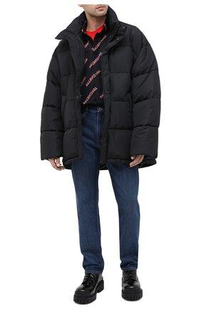 Мужская утепленная куртка BALENCIAGA черного цвета, арт. 621982/TYD33 | Фото 2