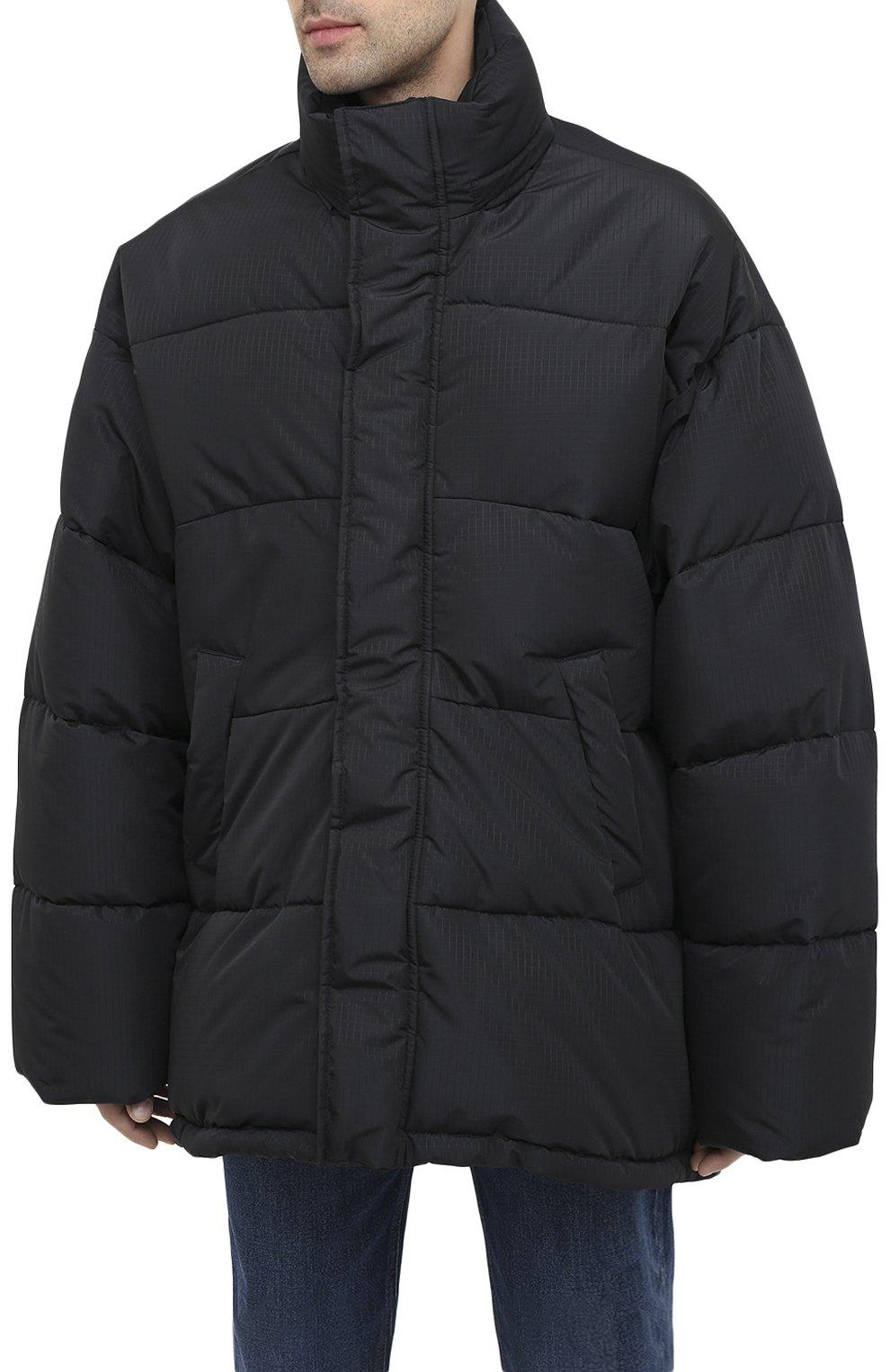 Мужская утепленная куртка BALENCIAGA черного цвета, арт. 621982/TYD33 | Фото 3