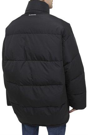 Мужская утепленная куртка BALENCIAGA черного цвета, арт. 621982/TYD33 | Фото 4