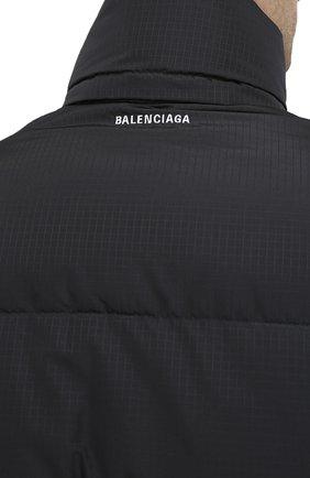 Мужская утепленная куртка BALENCIAGA черного цвета, арт. 621982/TYD33 | Фото 5