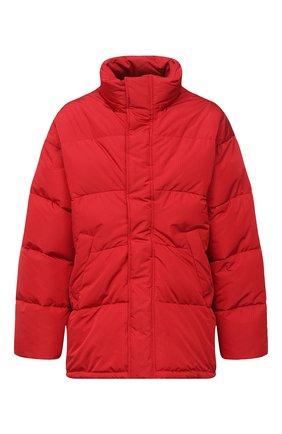 Мужская утепленная куртка BALENCIAGA красного цвета, арт. 621982/TYD33   Фото 1