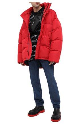 Мужская утепленная куртка BALENCIAGA красного цвета, арт. 621982/TYD33   Фото 2