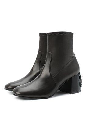 Женские кожаные ботильоны CASADEI темно-серого цвета, арт. 1Q033R06TGC10259101 | Фото 1