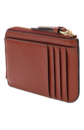 Женский кожаный футляр для кредитных карт CHLOÉ коричневого цвета, арт. CHC19UP059A37 | Фото 2