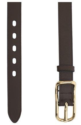 Женский кожаный ремень CHLOÉ коричневого цвета, арт. CHC20AC041SHC   Фото 2