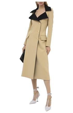 Женские кожаные туфли BURBERRY светло-серого цвета, арт. 8032030 | Фото 2