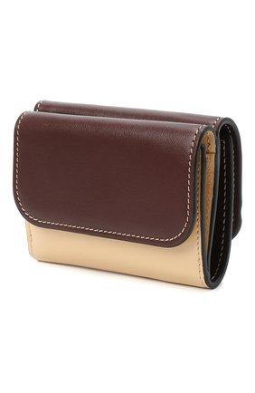 Женский кожаный футляр для кредитных карт CHLOÉ коричневого цвета, арт. CHC20AP058D09 | Фото 2